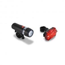 Farol traseiro para bicicleta. Pode ser fixado na mochila ou jaqueta para outras atividades. Com 5 LEDs e 7 modos
