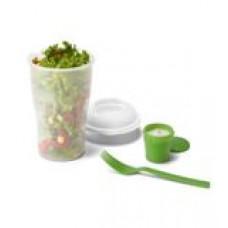 Copo para salada. PP. Com garfo e molheira. Capacidade: 800 ml