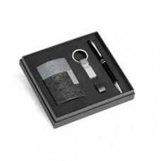 93315 - Kit de porta cartões, chaveiro e esferográfica